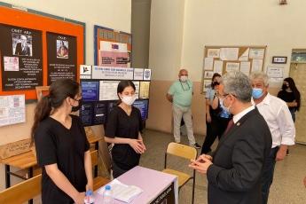Akdeniz İlçe Başkanımız Semih Palamut ile birlikte mezun olduğum Mersin Tevfik Sırrı Gür lLsesi öğrencilerinin tübitak bilim fuarını ziyaret ettik.