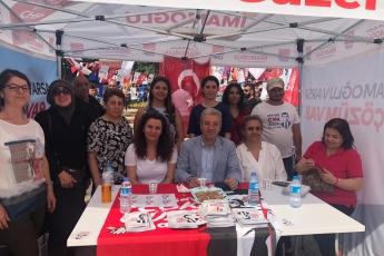 İstanbul Sancaktepe'de Parti Seçim Çadırı Ziyaretimiz.