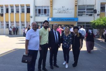 Okul ve Sandıklarda Görevli Mersinli Avukat Arkadaşlarımızla Sultanbeyli Yaşar Paşalı İlkokulundayız.