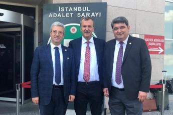 İstanbul Çağlayan Adliyesinde CHP İl Başkanı Canan Kaftancıoğlu'nun Duruşmasına Mersin İl Başkanımız Adil Aktay ve Mersin Milletvekilimiz Cengiz Gökçel ile  Katılımımız.