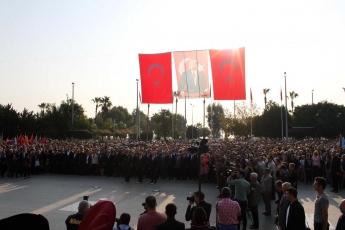 10 Kasım 2019 Atatürk'ün Ölümünün 81. Yılı Anma Programı kapsamında Cumhuriyet Meydanında yapılan Çelenk sunma Törenine Katılımımız.-02