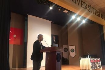Toros Üniversitesi Bahçelievler Kampüsünde; Ahmet Ümit 'Merhaba Güzel Vatanım' Edebiyat Söyleşisine Katılımımız.-02