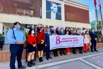 İl Kadın Kollarımızın 8 Mart Dünya Emekçi Kadınlar Günü İçin Yapmış Olduğu Basın Açıklamasına Katıldık.