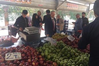 Yenişehir Belediye Başkan Adayımız Abdullah ÖZYİĞİT ile Birlikte Batıkent Semt Pazarı Ziyaretine Katılımımız.-02