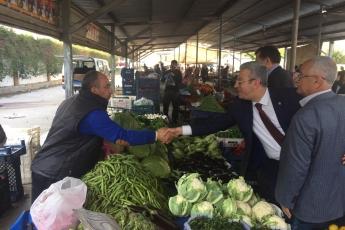 Yenişehir Belediye Başkan Adayımız Abdullah ÖZYİĞİT ile Birlikte Batıkent Semt Pazarı Ziyaretine Katılımımız.-03