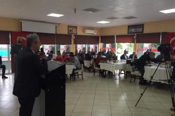 Mersin Büyükşehir Belediye Başkan Adayımız Vahap SEÇER ile Yenişehirdeki Muhtarlar Kahvaltısına Katılımımız.-05