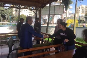 Mezitli Belediye Başkanı ve Adayımız Neşet TARHAN ile Halk Eğitimi Merkezini Ziyaretimiz.-02