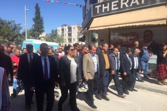 Mersin Belediye Başkan Adayımız Vahap SEÇER,Mut Belediye Başkan Adayımız Mehmet SAYDAM ve CHP'li Partililerimizle Hükümet Caddesi Esnaf Gezisine Katılımımız.-01