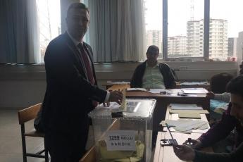 Yenişehir 1229 Mo'lu Sandıkta Yerel Seçimler İçin Oy Kullanımımız.