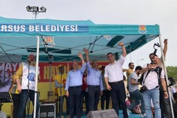 Tarsus'ta İşçi ve Emekçilerin Bayramı 1 Mayıs Tarsus Yürüyüşü ve Mitingine Katılımımız.-05