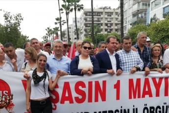 Mersin'de İşçi ve Emekçilerin Bayramı Mersin 1 Mayıs Yürüyüşü ve Mitingine Katılımımız.-03