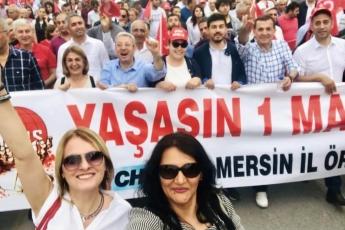 Mersin'de İşçi ve Emekçilerin Bayramı Mersin 1 Mayıs Yürüyüşü ve Mitingine Katılımımız.-05