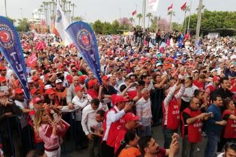 Mersin'de İşçi ve Emekçilerin Bayramı Mersin 1 Mayıs Yürüyüşü ve Mitingine Katılımımız.-12