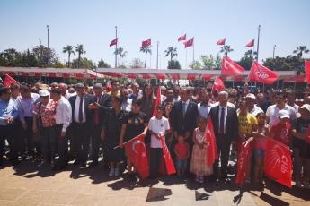 19 Mayıs Atatürk'ü Anma Gençlik ve Spor Bayramı Cumhuriyet Meydanı CHP İl Başkanlığı ve Halkımız ile Tören ve Kutlamalara Katılımımız.-03
