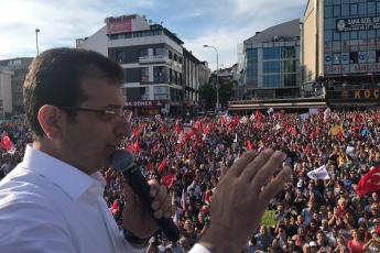 İstanbul Büyükşehir Belediye Başkanımız Ekrem İMAMOĞLU İle Çekmeköy Mitingine Katılımımız.-02