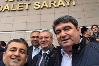 Örgütümüz, Milletvekillerimiz, PM üyelerimiz ve İstanbul İl Başkanımız Canan Kaftancıoğlu ile birlikte İstanbul Adalet Sarayında Basın Açıklamasına Katılımımız.-04