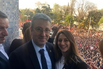 İstanbul Büyük Şehir Belediyesi Başkanı Ekrem İMAMOĞLU'nun Belediye Başkanı Olarak Halk İle Buluşmasına Katılımımız.-02