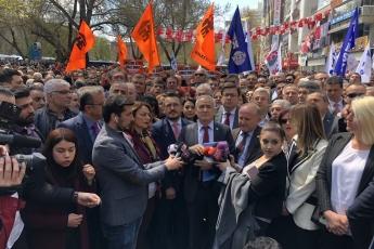 Ankara Genel Başkanımız Sayın Kemal Kılıçdaroğlu'na Yapılan Alçak Saldırıya Karşı Ankara İl Örgütümüz, Milletvekillerimiz ve Halkımızla Birlikte Güvenpark'ta Yapılan Basın Açıklamasına Katılımımız.