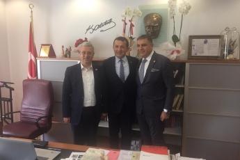 Hatay Milletvekili Mehmet GÜZELMANSUR ile Yenişehir Belediyesi Başkanımız Abdullah ÖZYİĞİT'i Ziyaretimiz.