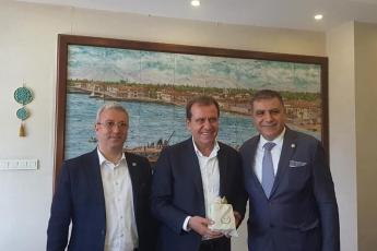 Hatay Milletvekili Mehmet GÜZELMANSUR ile Büyükşehir Belediyesi Başkanımız Vahap SEÇER'i Ziyaretimiz.