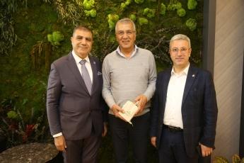 Hatay Milletvekili Mehmet GÜZELMANSUR ile Mezitli Belediyesi Başkanımız Neşet TARHAN'ı Ziyaretimiz.