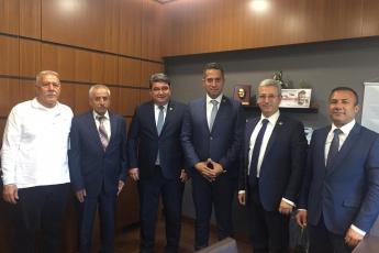 CHP MUT Belediye Başkanı Adayımız Sayın Mehmet SAYDAM, Mehmet YILDIZ ve Tacin DAĞLI Beylerin TBMM de Bizi Ziyareti