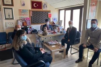 Türkiye Muharip Gaziler Derneği Aksaray Şubesine giderek, Şube Başkanımız Muharip Gazi Mustafa Dağ'ı ve Gazilerimizi ziyaret ettik.