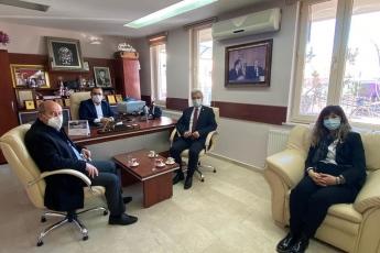 Aksaray Tabip Odası Başkanı Dr. Rıfkı Karabatak'ı ziyaret ettik.