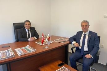 Mersin Gazeteciler Cemiyet Başkanımız Kaya Tepe'ye Açılışını Yaptığımız Basın Evinde Hayırlı Olsun Ziyaretinde Bulunduk