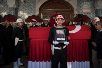 Barış Pınarı Harekat Bölgesinde Patlayıcı Yüklü Araç İle Yapılan Saldırı Sonucu Şehit Düşen Mehmetçiklerimizin Cenaze Törenine Katılımımız.-01