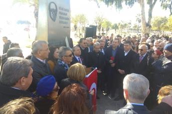 Balıkçı Barınağı Saat Kulesi Önünde CHP Mersin İl Başkanlığı Uğur Mumcu Anma Törenine Katılımımız.-01