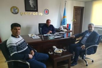 Petrol-İş Sendikası Mersin Şubesini ve Şube Başkanı Ersin Çulcu yu Ziyaretimiz.