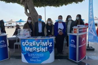 Mersin Büyükşehir Belediyemizin Kadın Üretici Pazarını ziyaret ettik. Üretici kadınlarımıza hayırlı işler diledik.