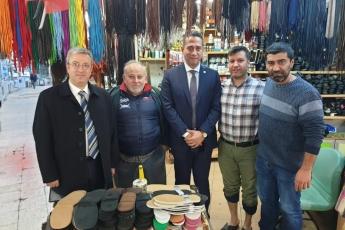 Akdeniz İlçesi Tarihi Zafer Çarşısı Esnafını Ziyaretimiz.-04