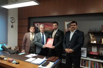 Adalet Sendikası Genel Başkan Vekili Hasan Hüseyin Taşçı, Başkan Yardımcısı Yusuf Ekinci ve Ankara Temsilcisi Çağrı Ünalmaz ın TBMM'de Bizi Ziyareti.