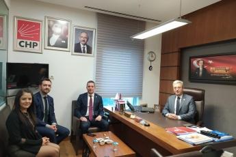 Ankara Baro Başkanı Ramiz Erinç SAĞKAN, Burcu Mine GARGIN ve Emrah ACER in TBMM de Bizi Ziyaretleri.-01