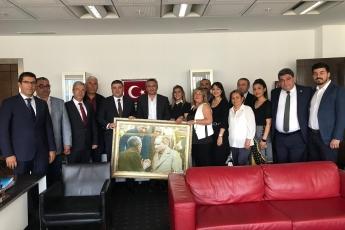 CHP Mersin Mezitli İlçe Başkanlığı ve Örgüt Temsilcilerinin TBMM'de CHP Grup Başkan Yardımcılarını Ziyareti.-02