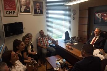 CHP Mersin Mezitli İlçe Başkanlığı ve Örgüt Temsilcilerinin TBMM'de Bizi Ziyareti.-01