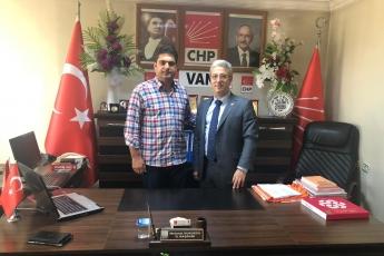 CHP Van İl Başkanlığında İl Başkanı Mehmet KURUKCU'yu ziyaretimiz.