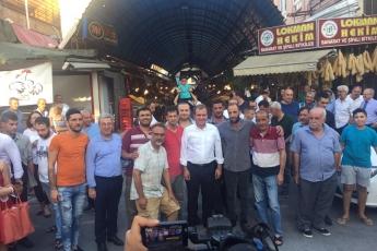 Mersin Büyükşehir Belediye Başkanı Sayın Vahap Seçer ile Mersin Çarşı Esnafını Ziyaretimiz.-10